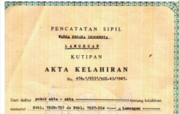 Informasi Mengenai Akta Kelahiran
