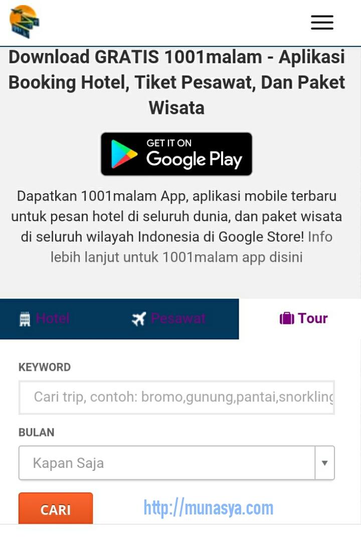 Tampilan aplikasi Android 1001malam