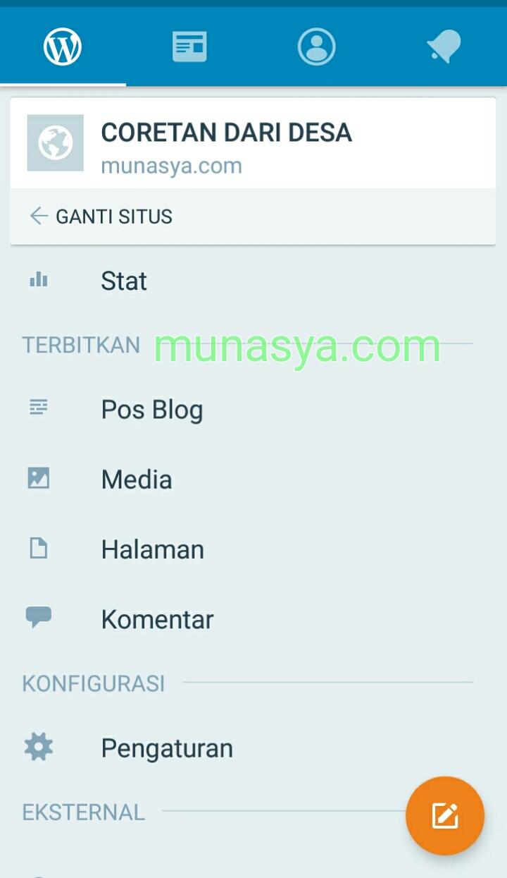 Aplikasi blog munasya.com