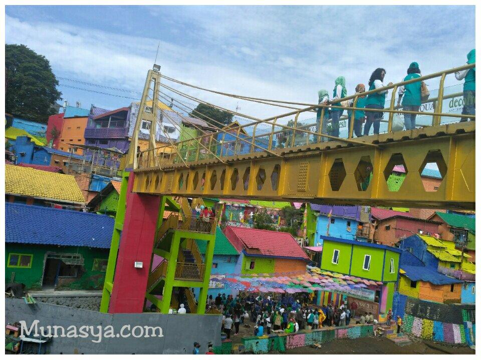 Jembatan kampung Jodipan Malang