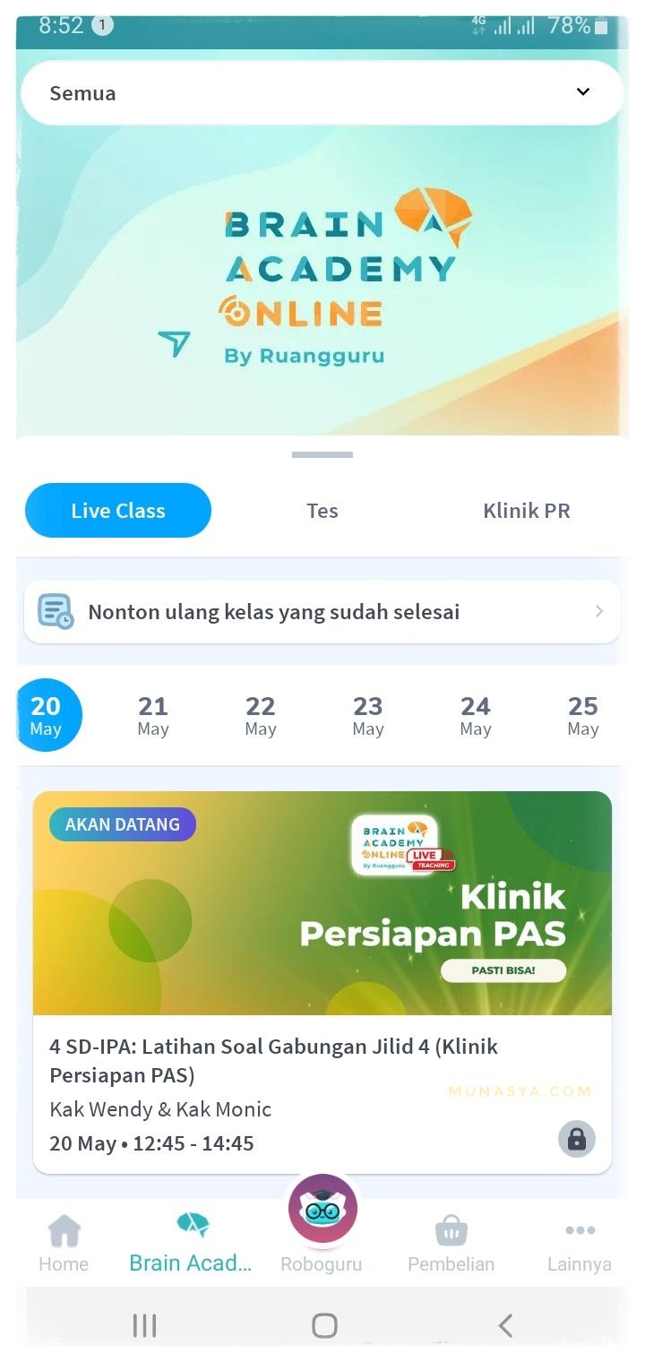 Klinik belajar online